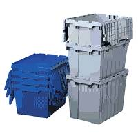 Plastic bins stackable nestable plastic bins and parts bins for Are lean cuisine boxes recyclable